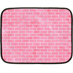 Brick1 White Marble & Pink Watercolor Double Sided Fleece Blanket (mini)