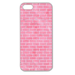 Brick1 White Marble & Pink Watercolor Apple Seamless Iphone 5 Case (clear)