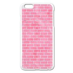 Brick1 White Marble & Pink Watercolor Apple Iphone 6 Plus/6s Plus Enamel White Case