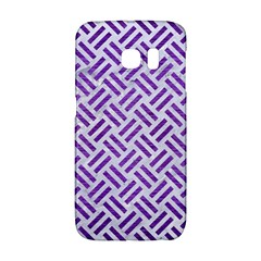 Woven2 White Marble & Purple Brushed Metal (r) Galaxy S6 Edge