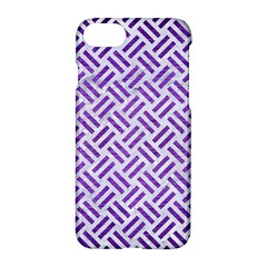 Woven2 White Marble & Purple Brushed Metal (r) Apple Iphone 8 Hardshell Case