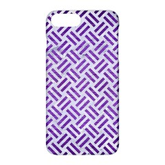 Woven2 White Marble & Purple Brushed Metal (r) Apple Iphone 8 Plus Hardshell Case
