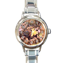 Spring Flowers Round Italian Charm Watch