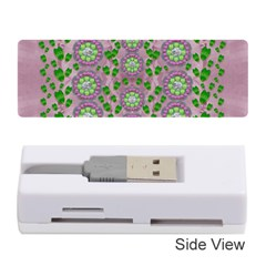 Ivy And  Holm Oak With Fantasy Meditative Orchid Flowers Memory Card Reader (stick)