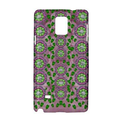 Ivy And  Holm Oak With Fantasy Meditative Orchid Flowers Samsung Galaxy Note 4 Hardshell Case