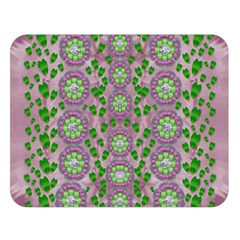 Ivy And  Holm Oak With Fantasy Meditative Orchid Flowers Double Sided Flano Blanket (large)
