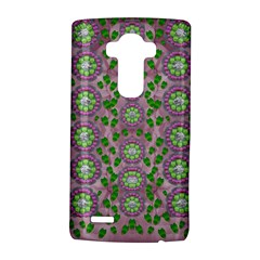 Ivy And  Holm Oak With Fantasy Meditative Orchid Flowers Lg G4 Hardshell Case by pepitasart