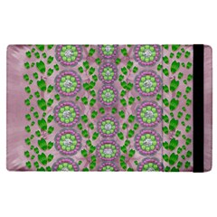 Ivy And  Holm Oak With Fantasy Meditative Orchid Flowers Apple Ipad Pro 9 7   Flip Case by pepitasart