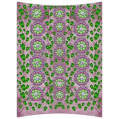 Ivy And  Holm Oak With Fantasy Meditative Orchid Flowers Back Support Cushion