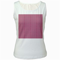 Mod Twist Stripes Red And White Women s White Tank Top by BrightVibesDesign