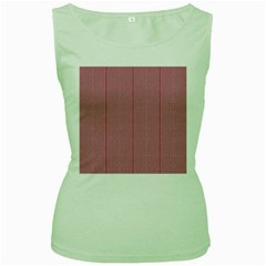Mod Twist Stripes Red And White Women s Green Tank Top by BrightVibesDesign