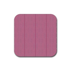 Mod Twist Stripes Red And White Rubber Square Coaster (4 Pack)