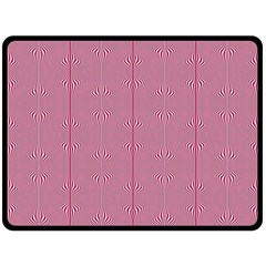 Mod Twist Stripes Red And White Double Sided Fleece Blanket (large)