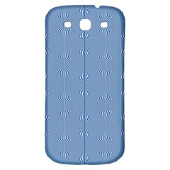 Mod Twist Stripes Blue And White Samsung Galaxy S3 S Iii Classic Hardshell Back Case by BrightVibesDesign