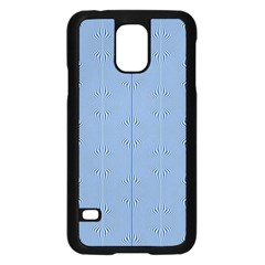 Mod Twist Stripes Blue And White Samsung Galaxy S5 Case (black)