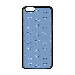 Mod Twist Stripes Blue And White Apple Iphone 6/6s Black Enamel Case by BrightVibesDesign
