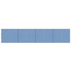 Mod Twist Stripes Blue And White Small Flano Scarf by BrightVibesDesign