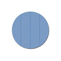 Mod Twist Stripes Blue And White Magnet 3  (round) by BrightVibesDesign