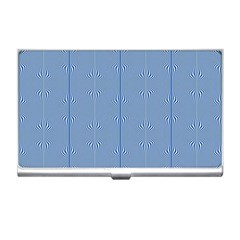 Mod Twist Stripes Blue And White Business Card Holders