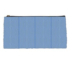 Mod Twist Stripes Blue And White Pencil Cases by BrightVibesDesign