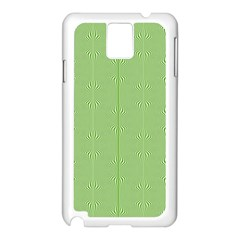 Mod Twist Stripes Green And White Samsung Galaxy Note 3 N9005 Case (white) by BrightVibesDesign
