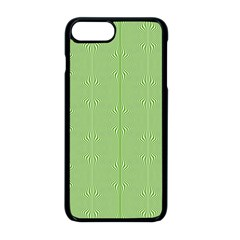 Mod Twist Stripes Green And White Apple Iphone 8 Plus Seamless Case (black) by BrightVibesDesign