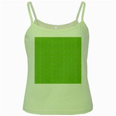 Mod Twist Stripes Green And White Green Spaghetti Tank by BrightVibesDesign