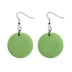 Mod Twist Stripes Green And White Mini Button Earrings