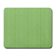 Mod Twist Stripes Green And White Large Mousepads