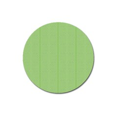 Mod Twist Stripes Green And White Magnet 3  (round) by BrightVibesDesign