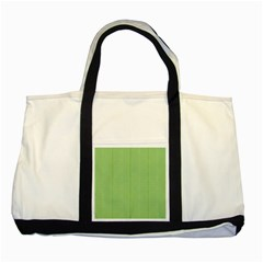 Mod Twist Stripes Green And White Two Tone Tote Bag by BrightVibesDesign