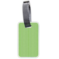 Mod Twist Stripes Green And White Luggage Tags (one Side)