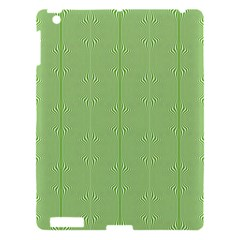 Mod Twist Stripes Green And White Apple Ipad 3/4 Hardshell Case