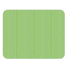 Mod Twist Stripes Green And White Double Sided Flano Blanket (large)