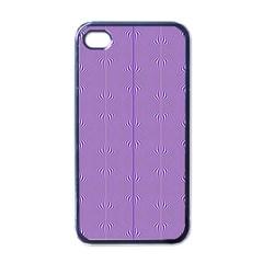 Mod Twist Stripes Purple And White Apple Iphone 4 Case (black)