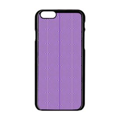 Mod Twist Stripes Purple And White Apple Iphone 6/6s Black Enamel Case by BrightVibesDesign