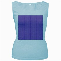 Mod Twist Stripes Purple And White Women s Baby Blue Tank Top by BrightVibesDesign