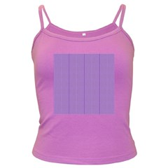 Mod Twist Stripes Purple And White Dark Spaghetti Tank by BrightVibesDesign