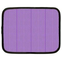 Mod Twist Stripes Purple And White Netbook Case (xl)
