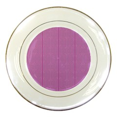 Mod Twist Stripes Pink And White Porcelain Plates