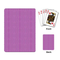 Mod Twist Stripes Pink And White Playing Card