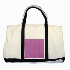 Mod Twist Stripes Pink And White Two Tone Tote Bag by BrightVibesDesign
