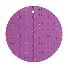 Mod Twist Stripes Pink And White Round Ornament (two Sides)