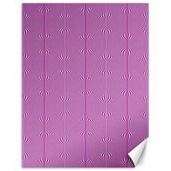 Mod Twist Stripes Pink And White Canvas 18  X 24   by BrightVibesDesign