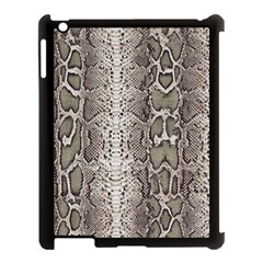 Snake Skin Apple Ipad 3/4 Case (black)