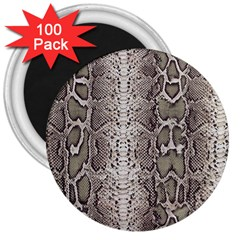 Snake Skin 3  Magnets (100 Pack) by LoolyElzayat