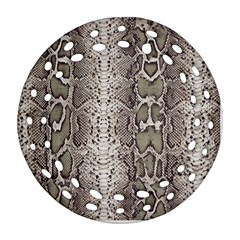 Snake Skin Round Filigree Ornament (two Sides)