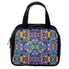 Colorful Flowers Classic Handbags (one Side)