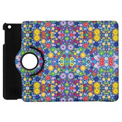 Colorful Flowers Apple Ipad Mini Flip 360 Case