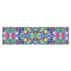 Colorful Flowers Satin Scarf (oblong)